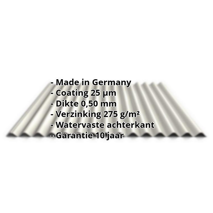 Golfplaat PS18/1064CR | 25 µm Polyester